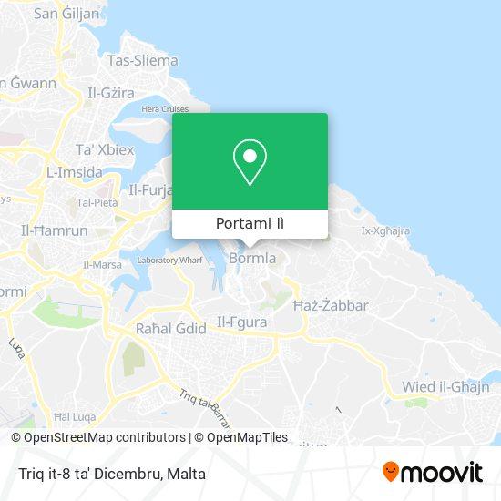 Mappa Triq it-8 ta' Dicembru