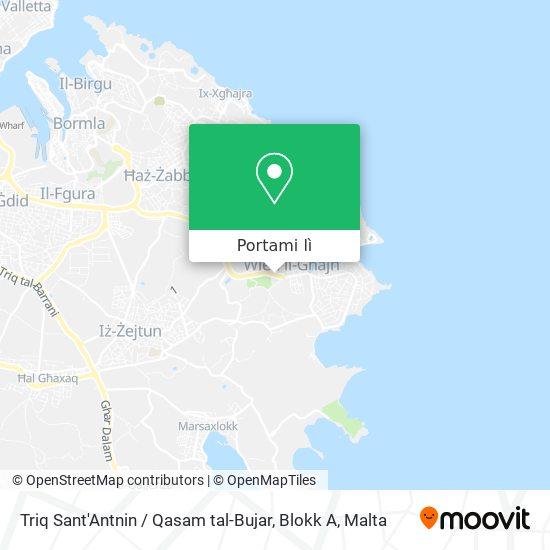 Mappa Triq Sant'Antnin / Qasam tal-Bujar, Blokk A