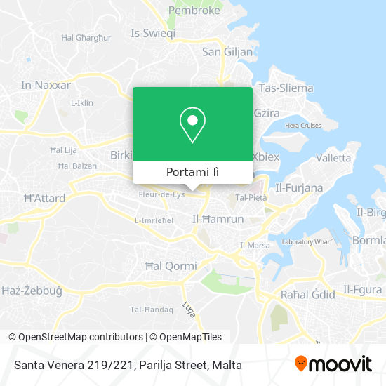 Mappa Santa Venera 219 / 221, Parilja Street