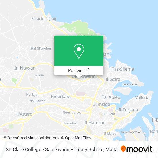 Mappa St. Clare College - San Ġwann Primary School