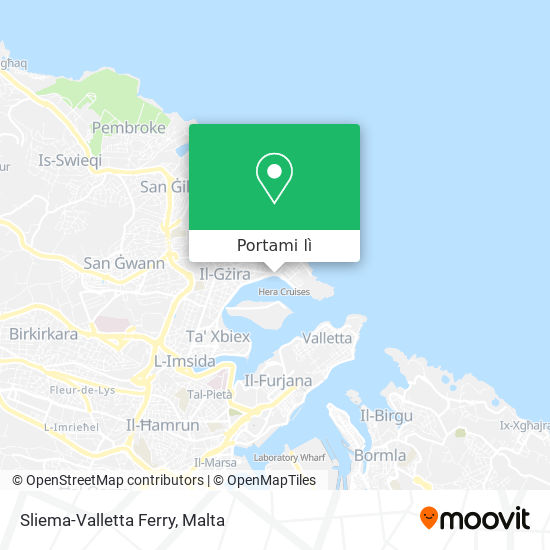 Mappa Sliema-Valletta Ferry