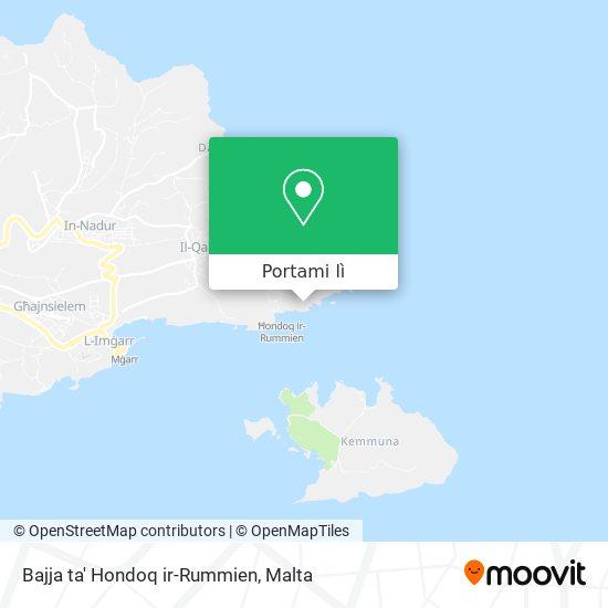 Mappa Bajja ta' Hondoq ir-Rummien