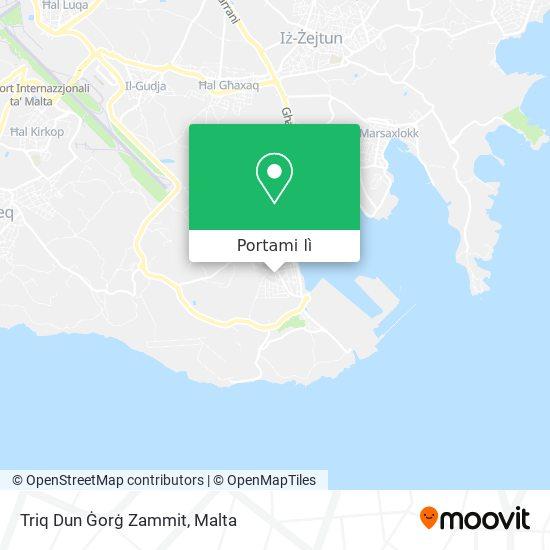 Mappa Triq Dun Ġorġ Zammit