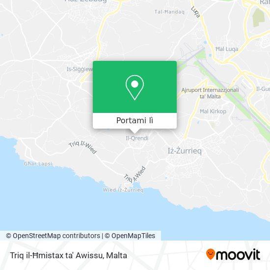 Mappa Triq il-Ħmistax ta' Awissu