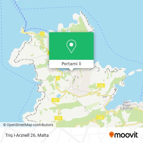 Mappa Triq l-Arznell 26