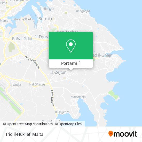 Mappa Triq il-Huxlief