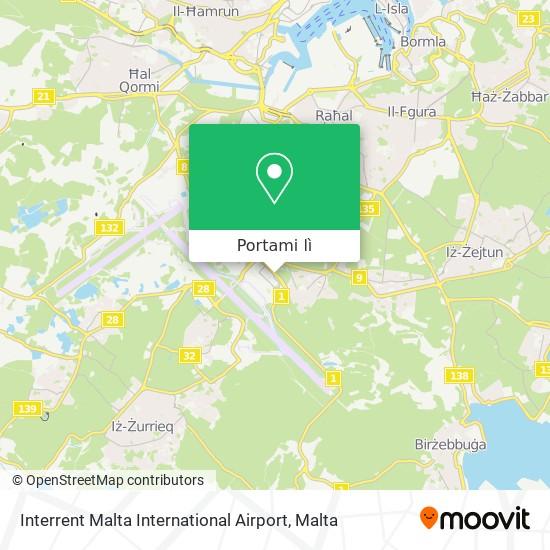 Mappa Interrent Malta International Airport