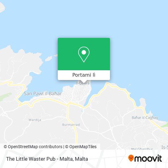 Mappa The Little Waster Pub - Malta