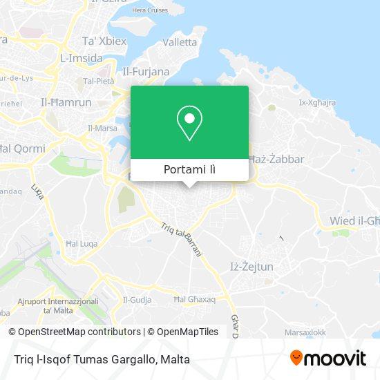Mappa Triq l-Isqof Tumas Gargallo