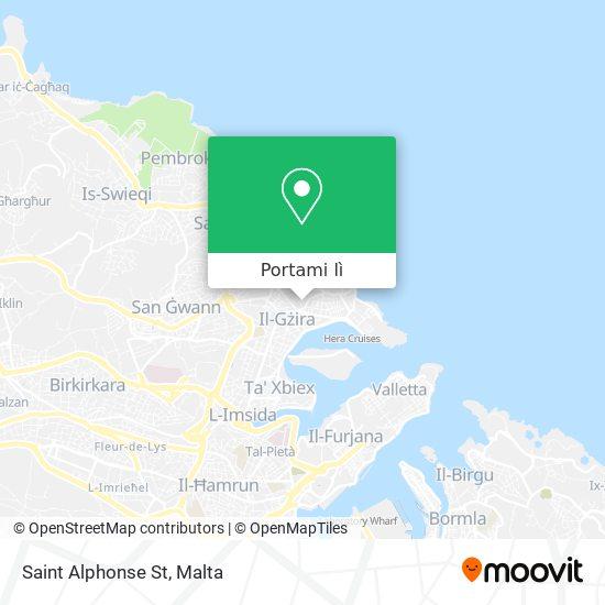 Mappa Saint Alphonse St
