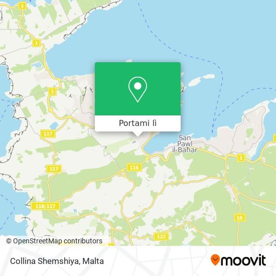 Mappa Collina Shemshiya