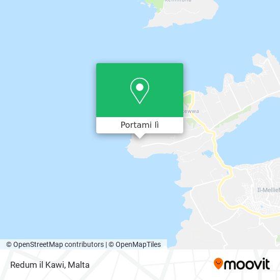 Mappa Redum il Kawi