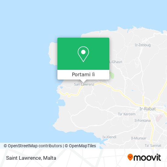 Mappa Saint Lawrence