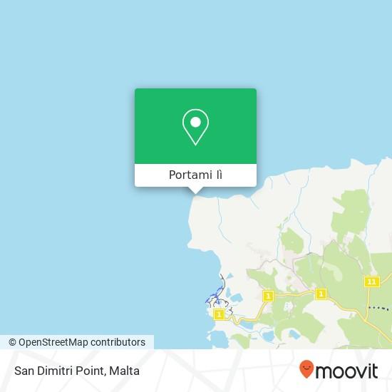 Mappa San Dimitri Point
