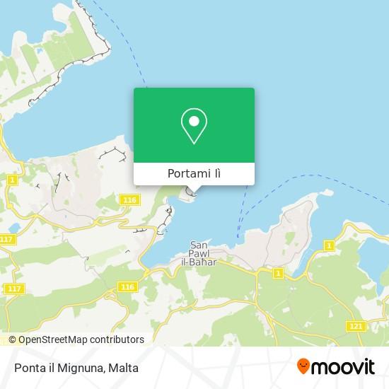 Mappa Ponta il Mignuna