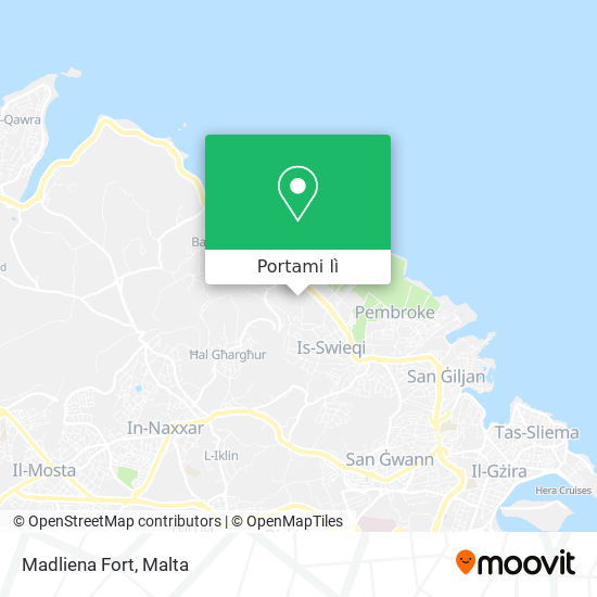 Mappa Madliena Fort