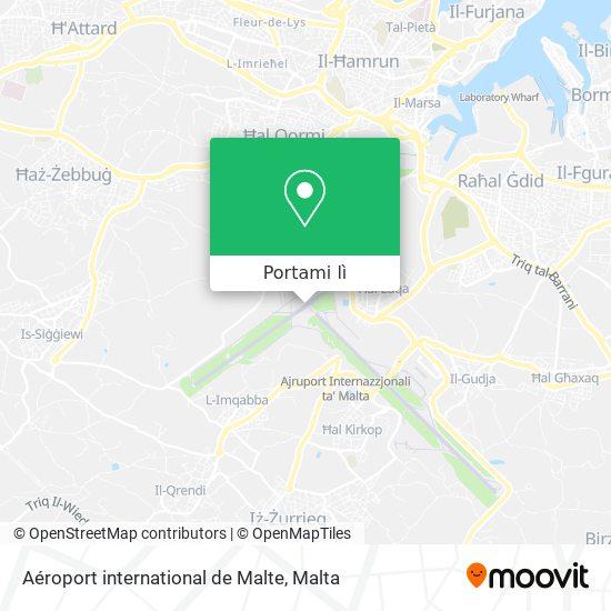 Mappa Aéroport international de Malte