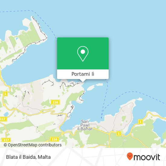 Mappa Blata il Baida