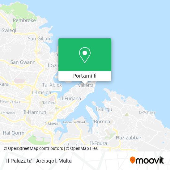 Mappa Il-Palazz ta' l-Arċisqof