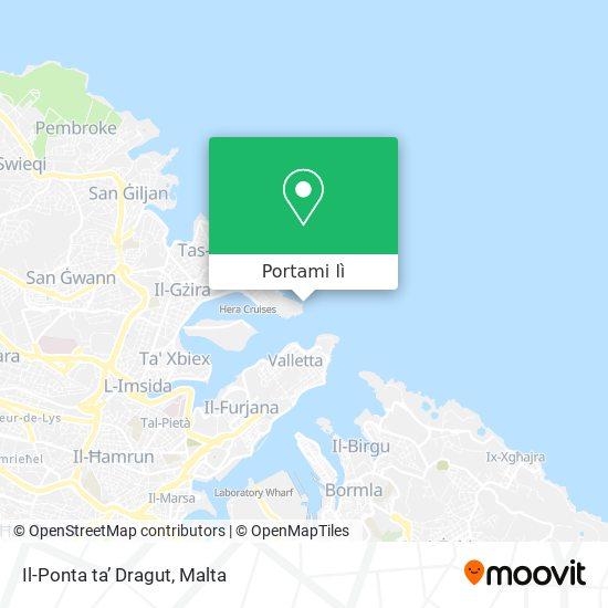 Mappa Il-Ponta ta' Dragut