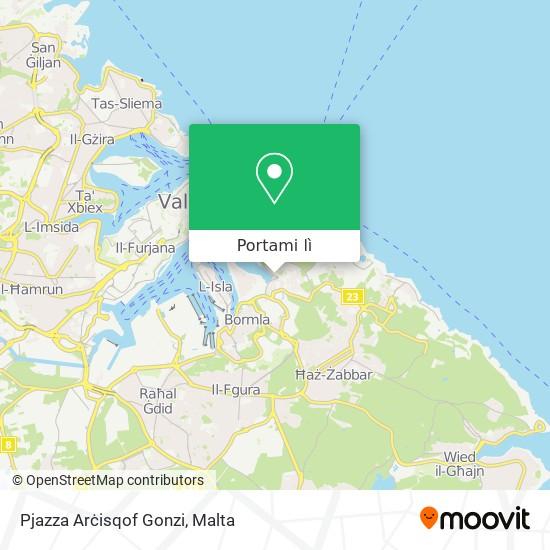Mappa Pjazza Arċisqof Gonzi