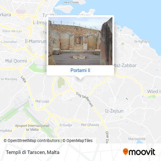 Mappa Templi di Tarscen