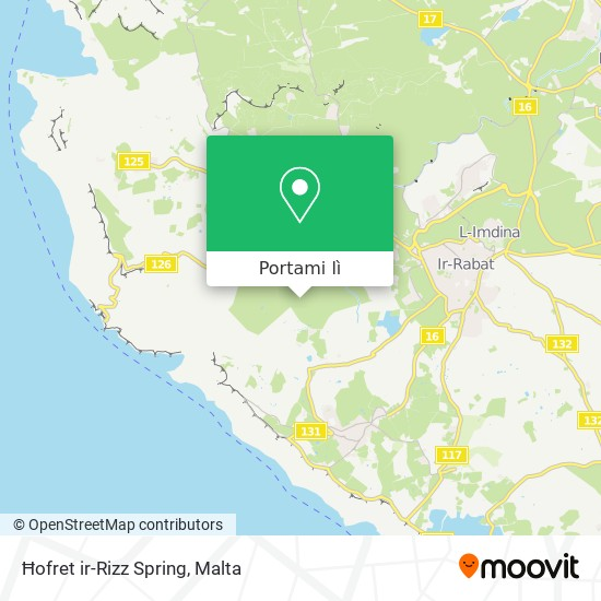 Mappa Ħofret ir-Rizz Spring