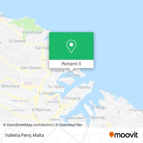 Mappa Valletta Ferry