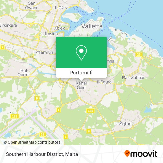 Mappa Southern Harbour District