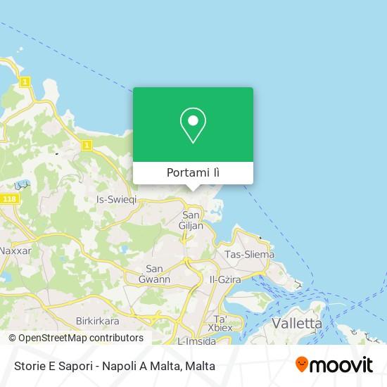 Mappa Storie E Sapori - Napoli A Malta