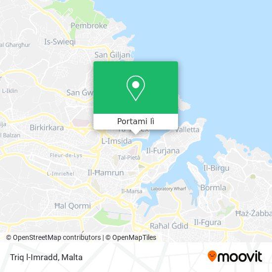 Mappa Triq l-Imradd