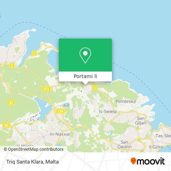 Mappa Triq Santa Klara