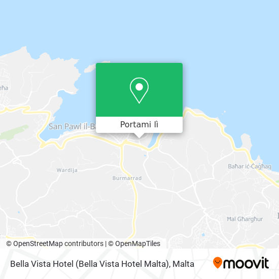 Mappa Bella Vista Hotel