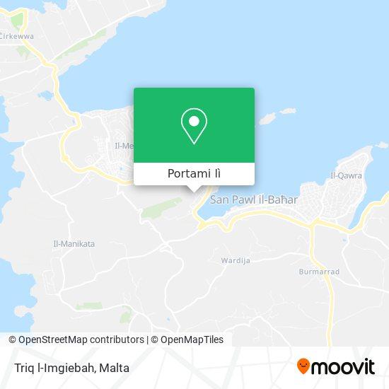Mappa Triq l-Imgiebah