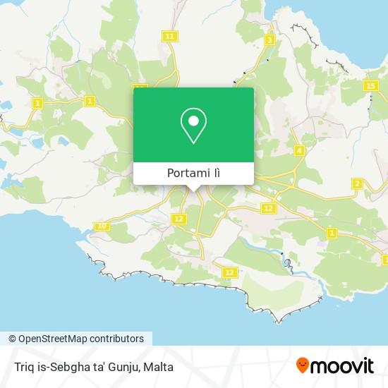 Mappa Triq is-Sebgha ta' Gunju