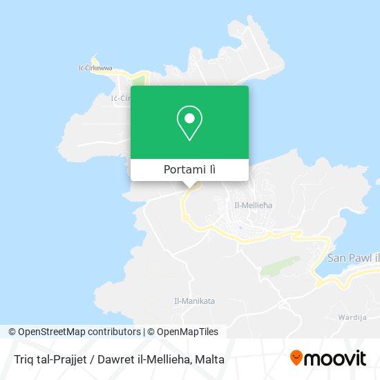 Mappa Triq tal-Prajjet / Dawret il-Mellieha