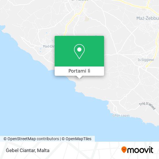 Mappa Ġebel Ciantar