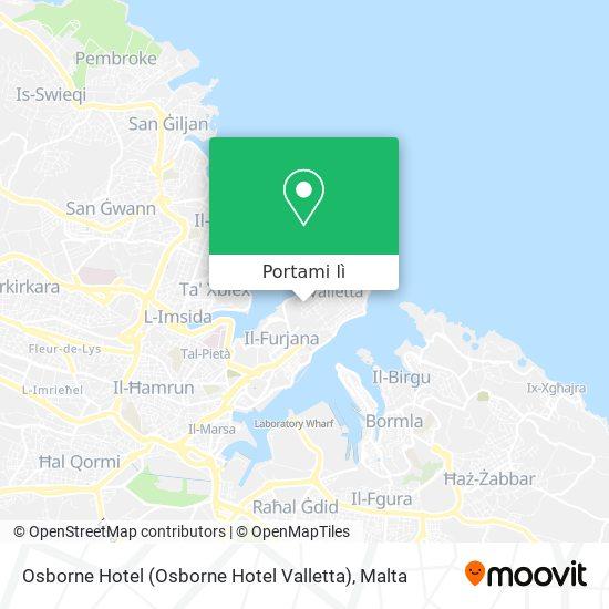 Mappa Osborne Hotel (Osborne Hotel Valletta)