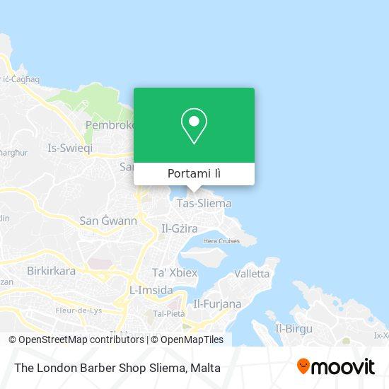 Mappa The London Barber Shop Sliema
