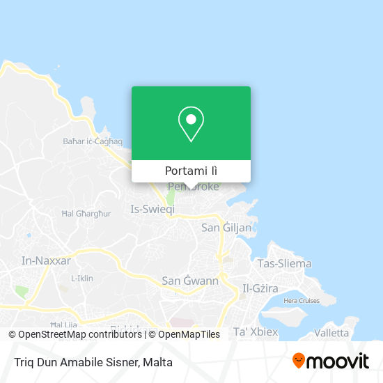 Mappa Triq Dun Amabile Sisner