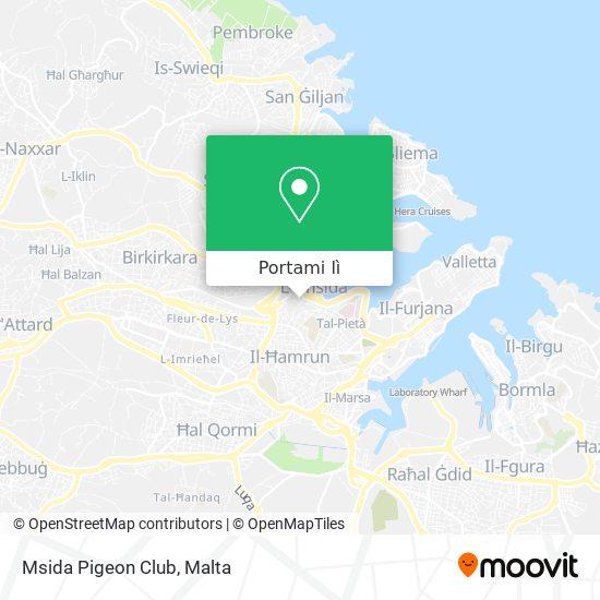 Mappa Msida Pigeon Club