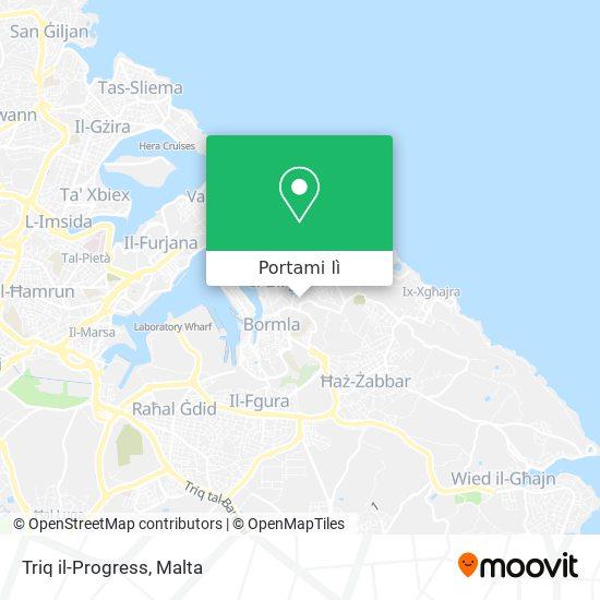 Mappa Triq il-Progress