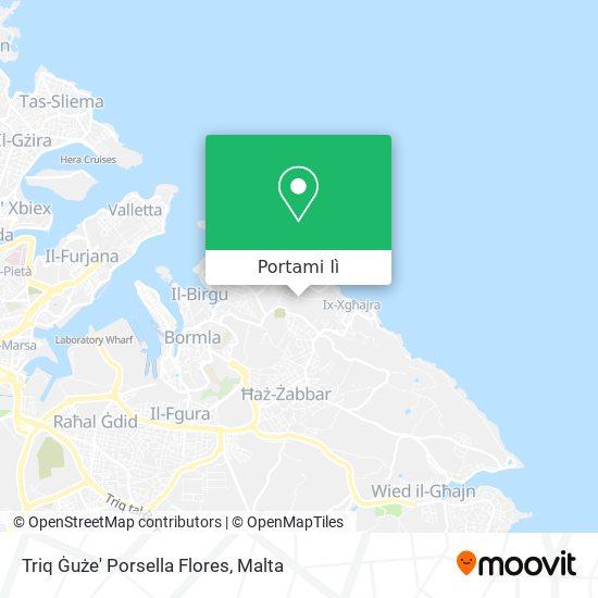 Mappa Triq Ġuże' Porsella Flores