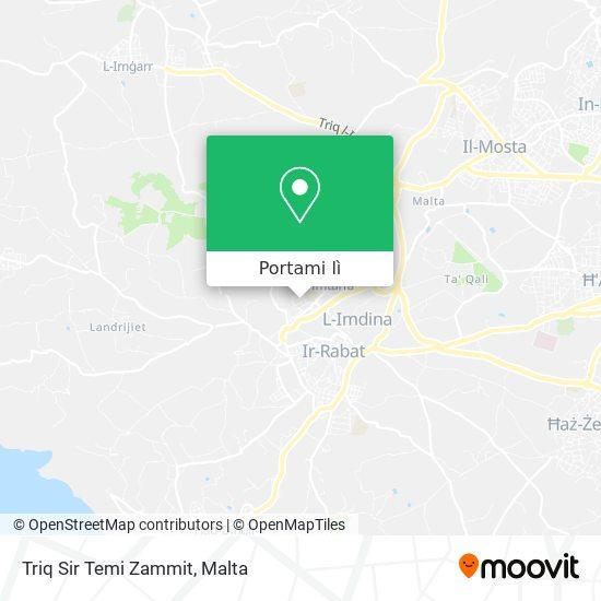 Mappa Triq Sir Temi Zammit