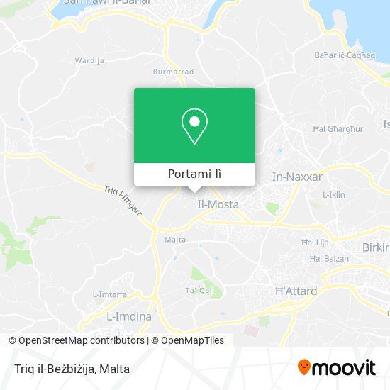 Mappa Triq il-Beżbiżija