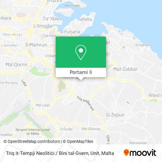 Mappa Triq it-Tempji Neolitiċi / Bini tal-Gvern, Unit