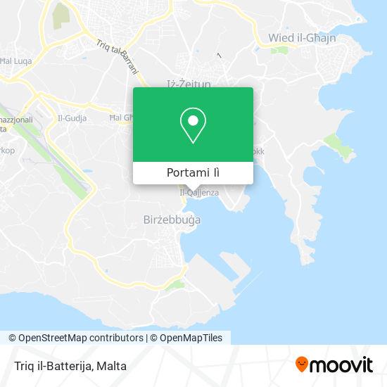 Mappa Triq il-Batterija