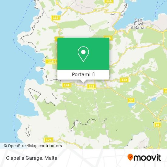Mappa Ciapella Garage