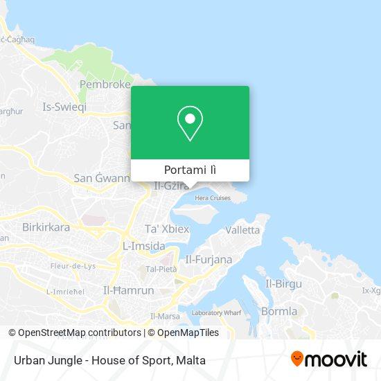 Mappa Urban Jungle - House of Sport
