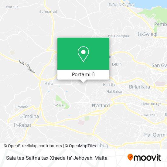 Mappa Sala tas-Saltna tax-Xhieda ta' Jehovah